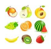 Διανυσματικά εικονίδια eps 10 φρούτων που απομονώνονται στο λευκό Στοκ εικόνες με δικαίωμα ελεύθερης χρήσης
