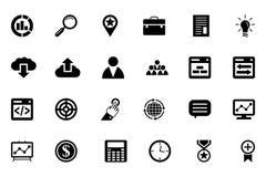Διανυσματικά εικονίδια 1 SEO και μάρκετινγκ Στοκ εικόνα με δικαίωμα ελεύθερης χρήσης