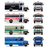 Διανυσματικά ειδικά εικονίδια λεωφορείων Στοκ Εικόνες