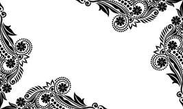 Διανυσματικά εκλεκτής ποιότητας όμορφα γραπτά λουλούδια και φύλλα που απομονώνονται Στοκ Φωτογραφίες