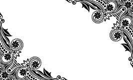 Διανυσματικά εκλεκτής ποιότητας όμορφα γραπτά λουλούδια και φύλλα που απομονώνονται Στοκ εικόνες με δικαίωμα ελεύθερης χρήσης