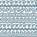 Διανυσματικά ελληνικά διακοσμητικά στοιχεία κυμάτων και μαιάνδρου καθορισμένα ελεύθερη απεικόνιση δικαιώματος