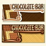 Διανυσματικά εμβλήματα για το φραγμό σοκολάτας ελεύθερη απεικόνιση δικαιώματος