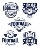 Διανυσματικά εμβλήματα ποδοσφαίρου Στοκ εικόνα με δικαίωμα ελεύθερης χρήσης