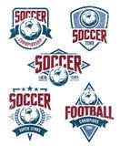 Διανυσματικά εμβλήματα ποδοσφαίρου Στοκ φωτογραφίες με δικαίωμα ελεύθερης χρήσης