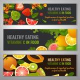 Διανυσματικά εμβλήματα τροφίμων Στοκ εικόνες με δικαίωμα ελεύθερης χρήσης