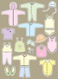 Ενδύματα και αντικείμενα για το μωρό Στοκ φωτογραφία με δικαίωμα ελεύθερης χρήσης