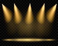Διανυσματικά επίκεντρα Φωτισμός της σκηνής Διαφανές φως απεικόνιση αποθεμάτων