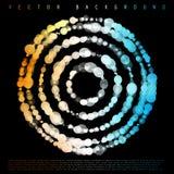 Διανυσματικά ζωηρόχρωμα σημεία abstract background circles Στοκ φωτογραφία με δικαίωμα ελεύθερης χρήσης