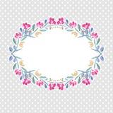 Διανυσματικά ζωηρόχρωμα floral στεφάνια watercolor Στοκ εικόνες με δικαίωμα ελεύθερης χρήσης