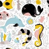 Διανυσματικά ζώα θάλασσας διανυσματική απεικόνιση
