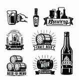 Διανυσματικά διακριτικά μπύρας Στοκ Εικόνες