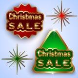Διανυσματικά διακριτικά πώλησης Χριστουγέννων Στοκ Φωτογραφία
