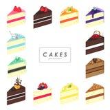 Διανυσματικά κέικ καθορισμένα Απεικόνιση αποθεμάτων