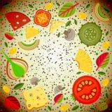 Διανυσματικά καλύμματα υποβάθρου για την πίτσα Στοκ φωτογραφία με δικαίωμα ελεύθερης χρήσης