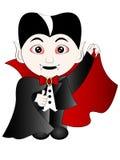Διανυσματικά κινούμενα σχέδια αποκριές Dracula Στοκ Εικόνες