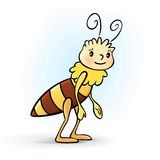 Διανυσματικά κινούμενα σχέδια μελισσών βασίλισσας Στοκ Φωτογραφίες