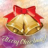 Διανυσματικά κουδούνια Χριστουγέννων διανυσματική απεικόνιση