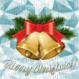 Διανυσματικά κουδούνια Χριστουγέννων απεικόνιση αποθεμάτων