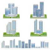 Διανυσματικά κτήρια καθορισμένα ελεύθερη απεικόνιση δικαιώματος