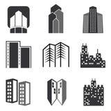 Διανυσματικά κτήρια πόλεων καθορισμένα Στοκ Εικόνες