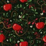 Διανυσματικά κόκκινα μήλα σχεδίων Στοκ Φωτογραφίες