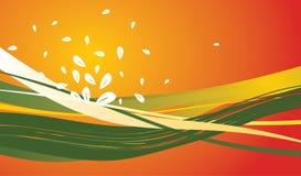 διανυσματικά κύματα ανασ&k Στοκ εικόνα με δικαίωμα ελεύθερης χρήσης