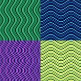 Διανυσματικά κύματα στα διαφορετικά χρώματα Τακτοποιημένος με ένα ορισμένο άνευ ραφής σχέδιο ρυθμού Στοκ Εικόνες