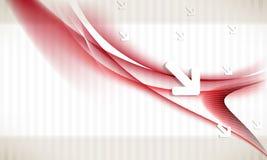 διανυσματικά κύματα στοιχείων ανασκόπησης βελών ελεύθερη απεικόνιση δικαιώματος