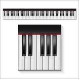 Διανυσματικά κλειδιά πιάνων καθορισμένα Στοκ φωτογραφία με δικαίωμα ελεύθερης χρήσης