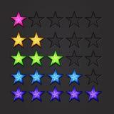 Διανυσματικά λαμπρά αστέρια Στοκ εικόνες με δικαίωμα ελεύθερης χρήσης