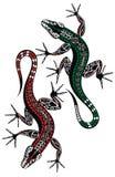 Διανυσματικά λογότυπο εικονιδίων σαυρών και πρότυπο συμβόλων διανυσματική απεικόνιση