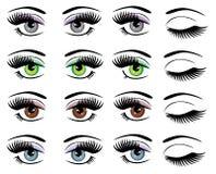 Διανυσματικά μάτια καθορισμένα απεικόνιση αποθεμάτων