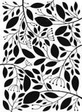 Διανυσματικά μαύρα φύλλα Στοκ Φωτογραφίες