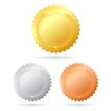 Διανυσματικά μετάλλια ελεύθερη απεικόνιση δικαιώματος