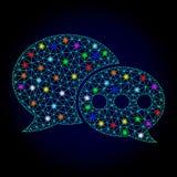 Διανυσματικά μηνύματα φόρουμ πλέγματος σφαγίων με τα σημεία έντονου φωτός για το νέο έτος διανυσματική απεικόνιση