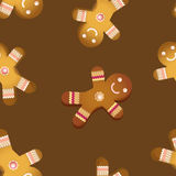 Διανυσματικά μπισκότα ατόμων μελοψωμάτων simless Στοκ Φωτογραφία