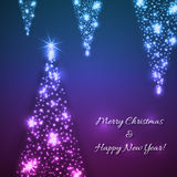 Διανυσματικά μπλε Χριστούγεννα και νέο υπόβαθρο έτους Στοκ Εικόνα