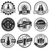 Διανυσματικά λογότυπα μπύρας τεχνών διανυσματική απεικόνιση