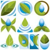 Διανυσματικά λογότυπα Eco καθορισμένα Στοκ Εικόνες