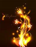 Διανυσματικά λουλούδια πυρκαγιάς ελεύθερη απεικόνιση δικαιώματος