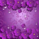 Διανυσματικά λουλούδια σε τρισδιάστατο Στοκ Εικόνα