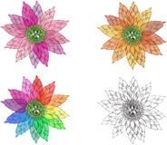 Διανυσματικά λουλούδια φαντασίας Διανυσματική απεικόνιση