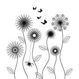 Διανυσματικά λουλούδια Στοκ φωτογραφία με δικαίωμα ελεύθερης χρήσης