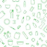 Διανυσματικά πλαστικά ανακυκλώσιμα στοιχεία απεικόνιση αποθεμάτων