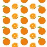 Διανυσματικά πορτοκαλιά φρούτα Στοκ Εικόνα