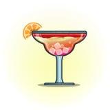 Διανυσματικά ποτά κοκτέιλ απεικόνισης στο διανυσματικό επίπεδο εικονίδιο γυαλιών Στοκ Εικόνες
