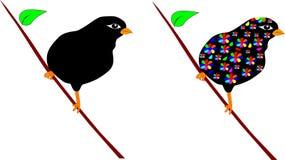 Διανυσματικά πουλιά Στοκ Εικόνες