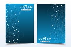 Διανυσματικά πρότυπα για τη ετήσια έκθεση βιβλιάριων κάλυψης ιπτάμενων φυλλάδιων περιοδικών φυλλάδιων Σύγχρονο φουτουριστικό εξαγ Στοκ φωτογραφία με δικαίωμα ελεύθερης χρήσης