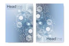 Διανυσματικά πρότυπα για τη ετήσια έκθεση βιβλιάριων κάλυψης ιπτάμενων φυλλάδιων περιοδικών φυλλάδιων Σύγχρονο φουτουριστικό εξαγ Στοκ φωτογραφίες με δικαίωμα ελεύθερης χρήσης